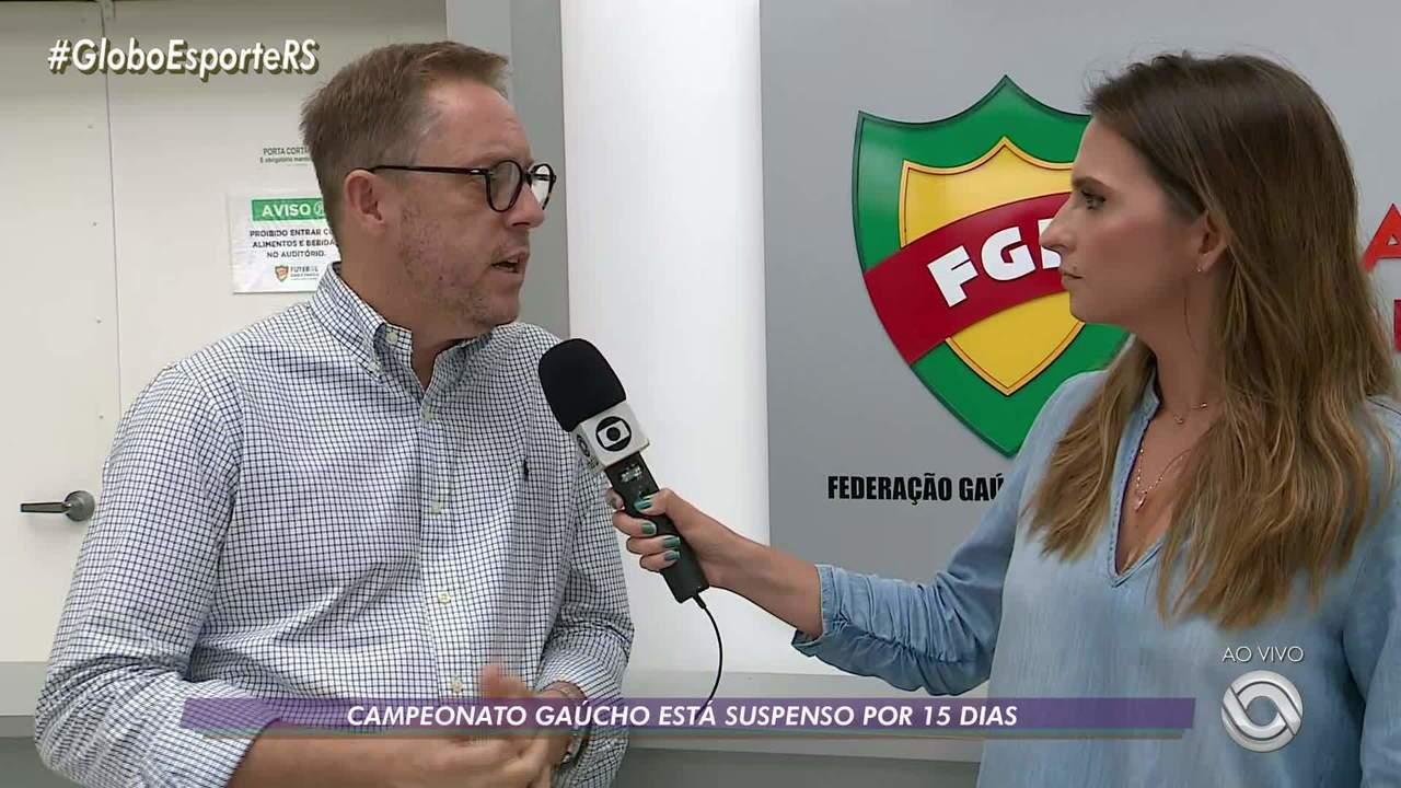 Campeonato Gaúcho é suspenso por 15 dias por causa do coronavírus