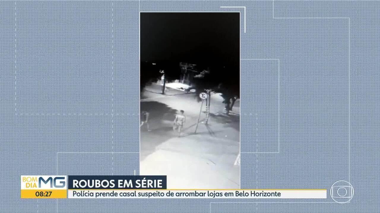 Casal é preso por roubar várias lojas em Belo Horizonte
