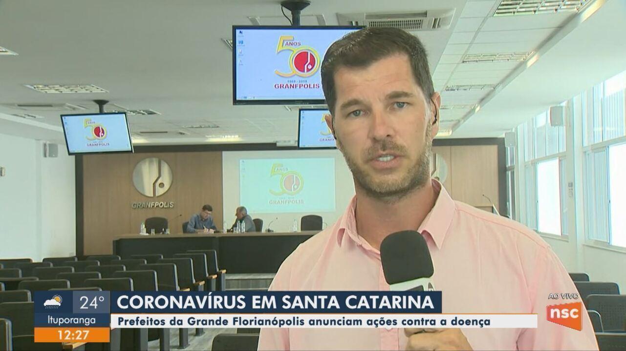 Prefeitos da Grande Florianópolis anunciam ações contra o coronavírus
