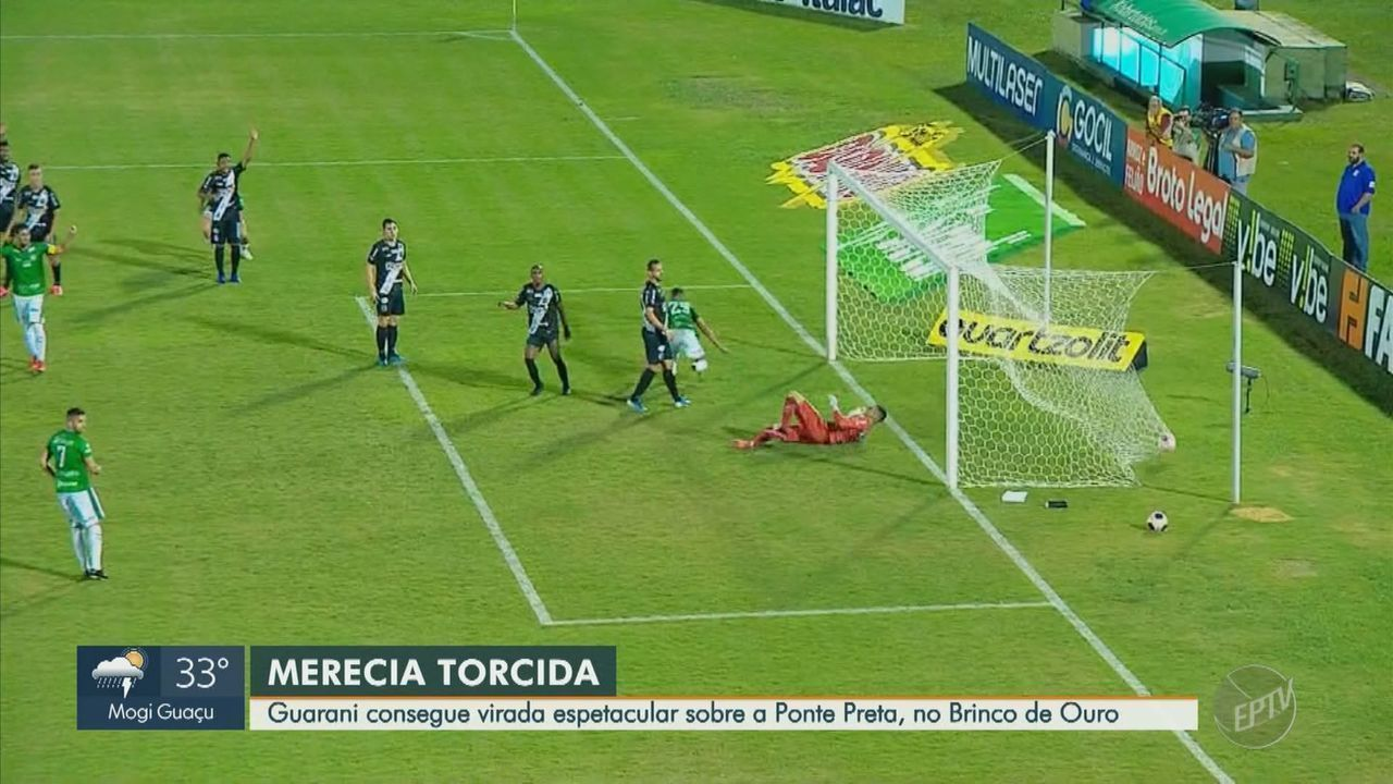 Ponte abre 2 a 0, Guarani vira no fim do jogo e acaba com jejum de oito anos em dérbis