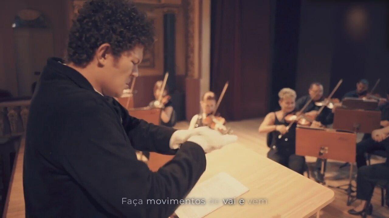 Orquestra do AM simula espetáculo em tutorial de como lavar mãos em prevenção ao Covid-19