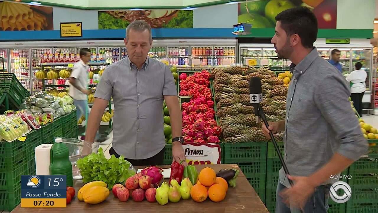Limpeza de produtos do supermercado é importante para evitar disseminação do vírus