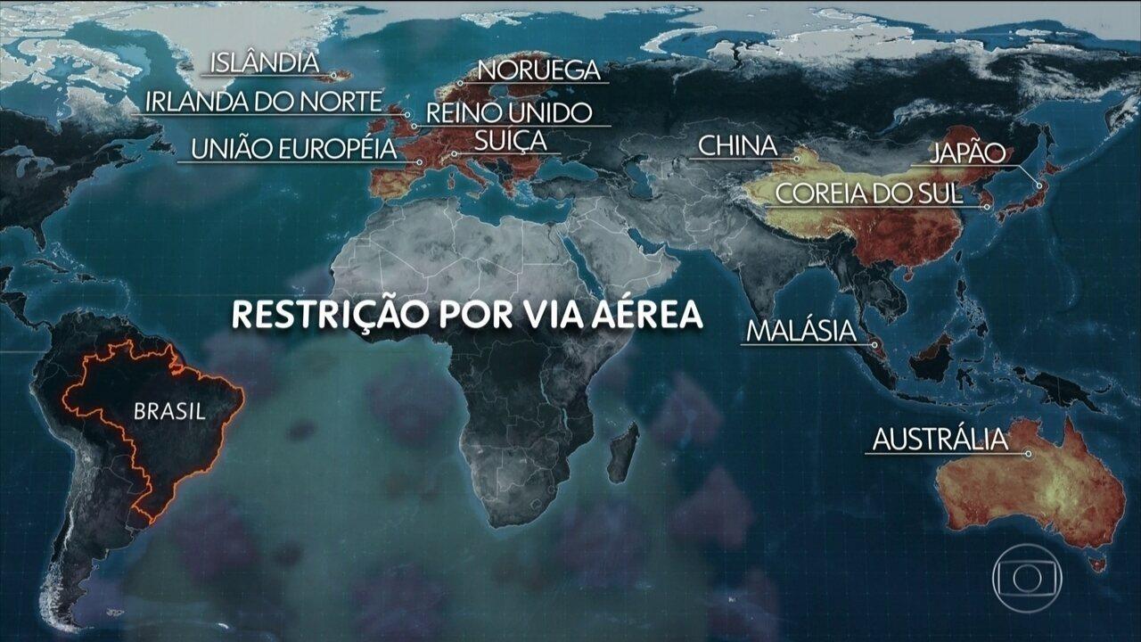 Governo restringe entrada de estrangeiros de mais de 30 países