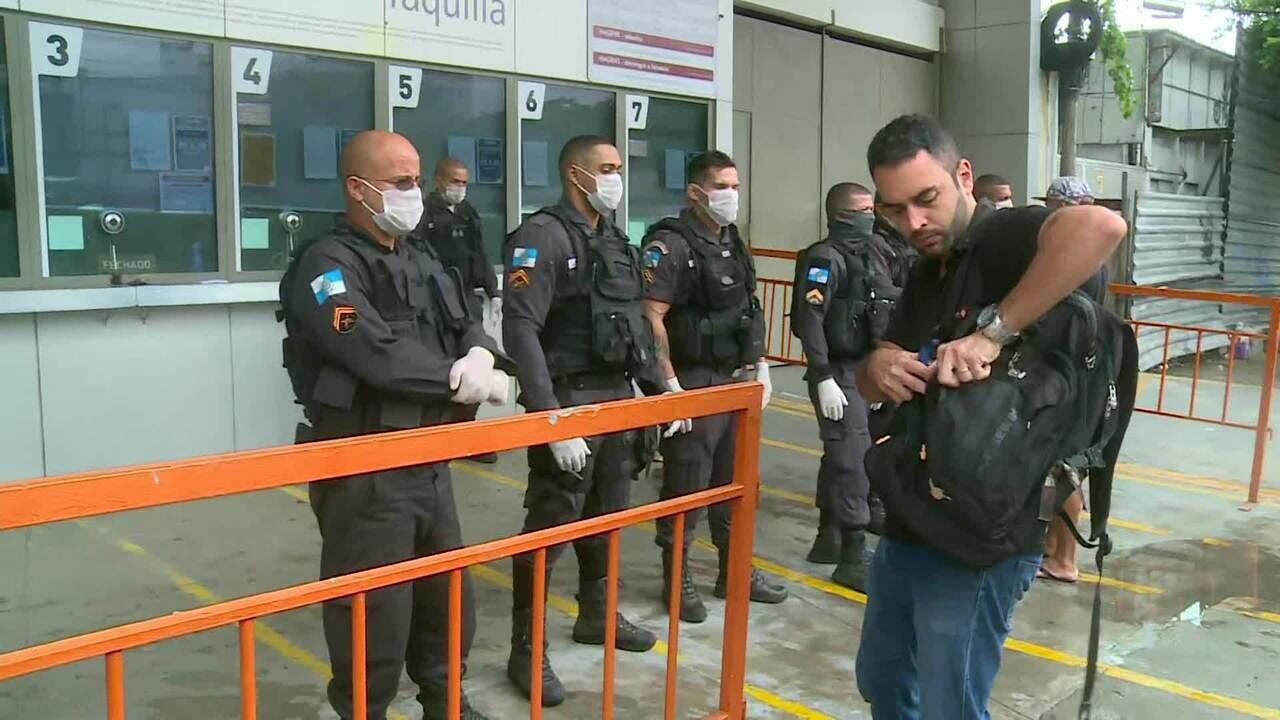 Governo restringe circulação no transporte público do RJ