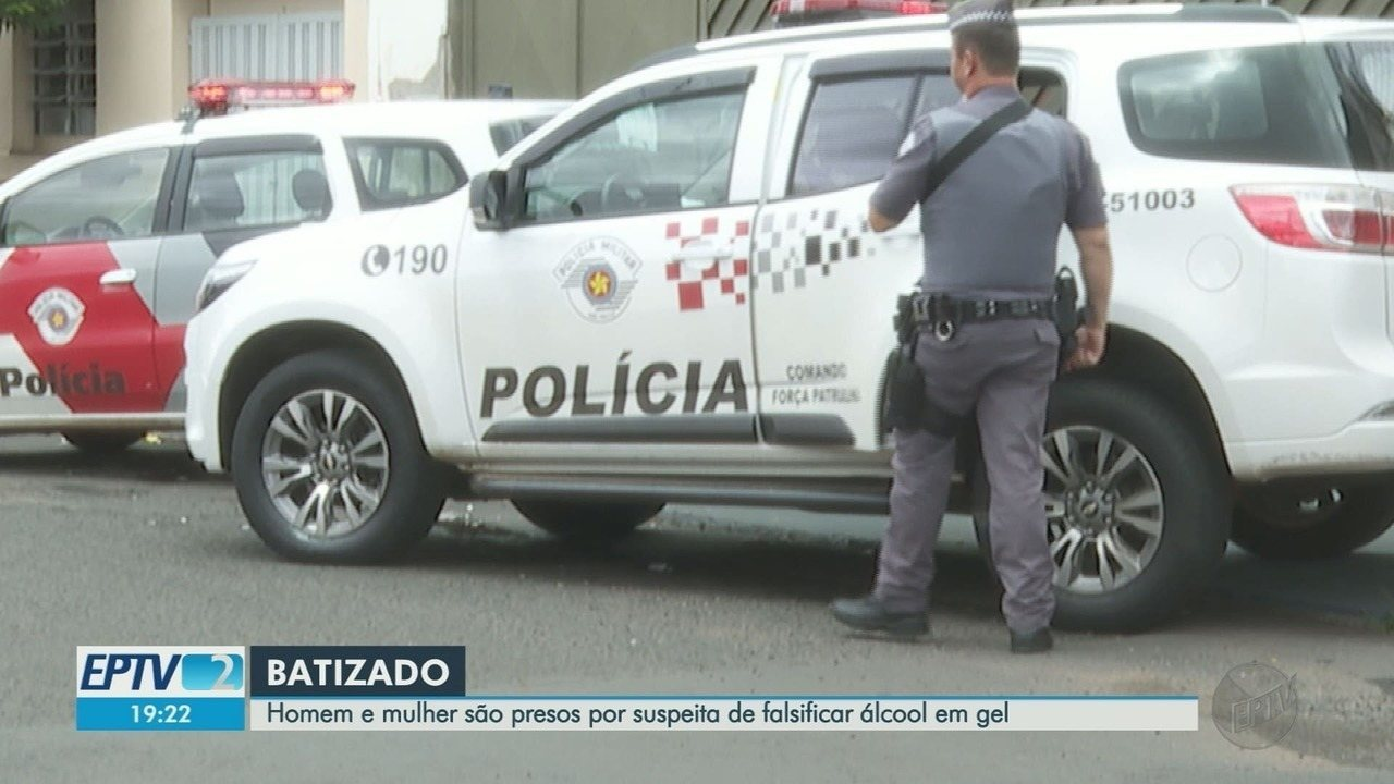 Mãe e filho são presos suspeitos de produzir álcool em gel falsificado em Ribeirão Preto