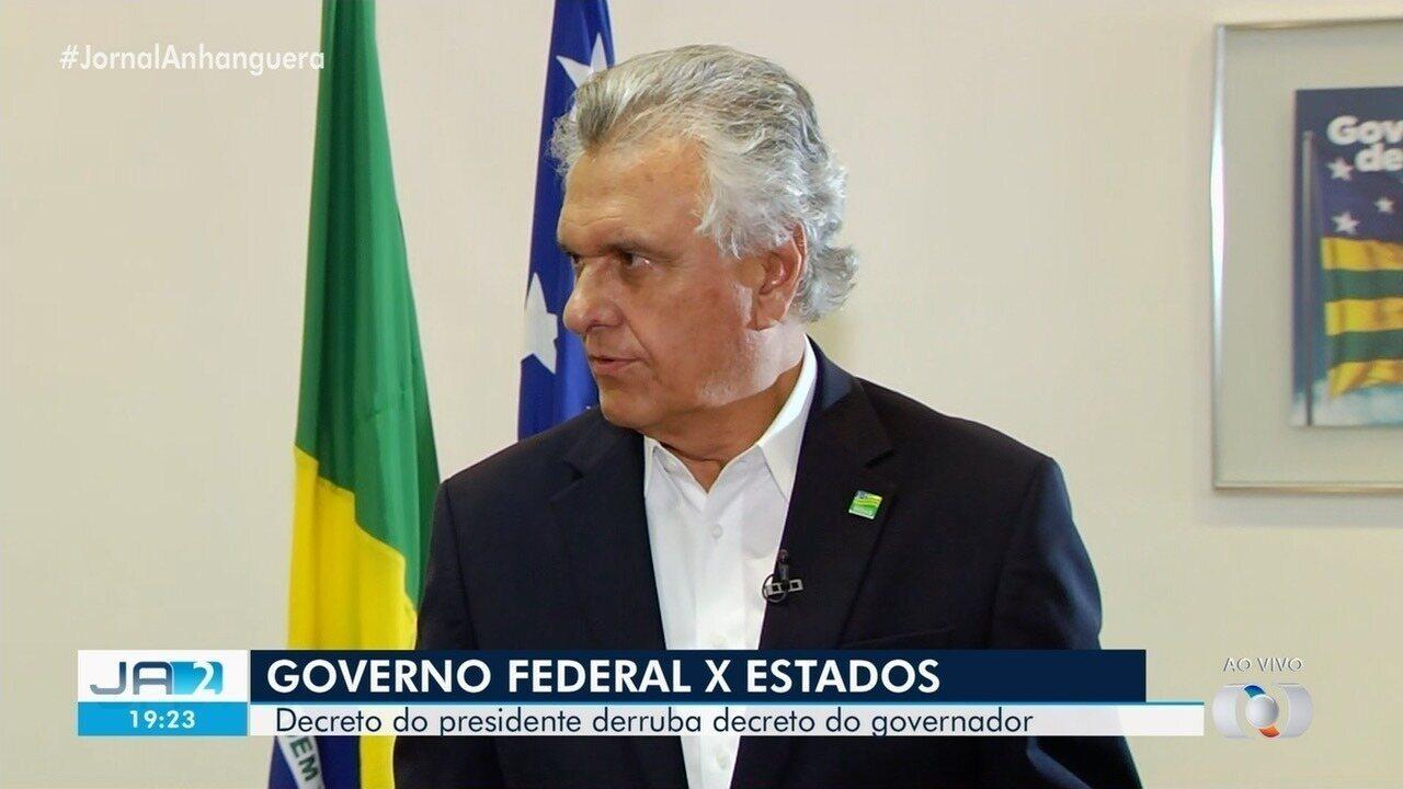 Entrada de passageiros de ônibus e avião segue proibida em Goiás, diz Caiado