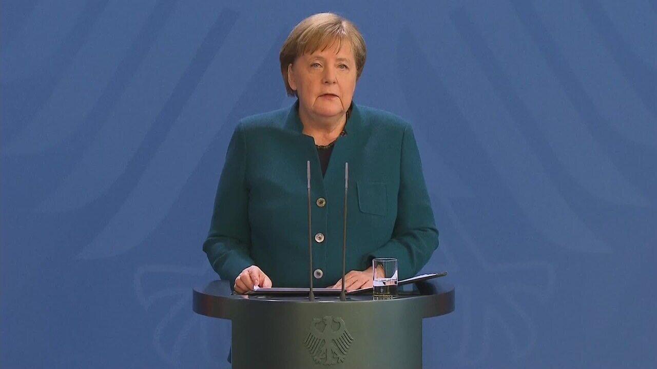Coronavírus: chanceler alemã Angela Merkel anuncia medidas contra vírus