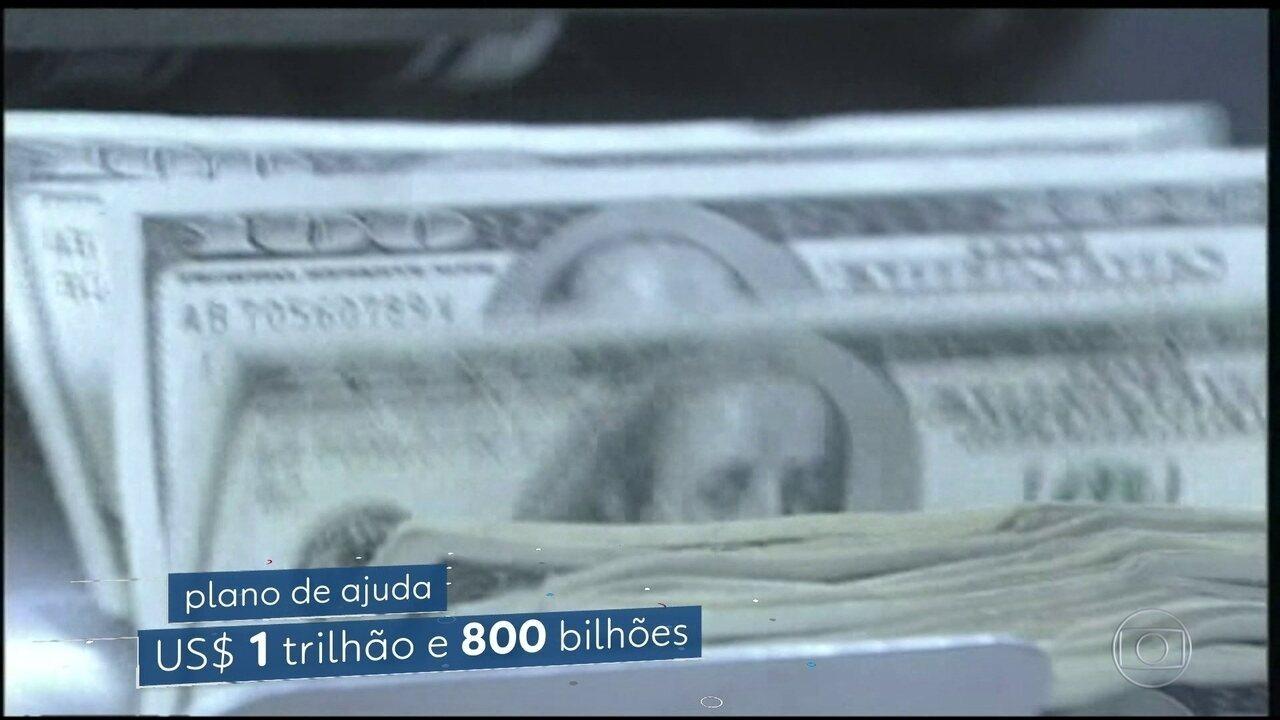 Congresso dos EUA discute pacote de ajuda à maior economia do planeta