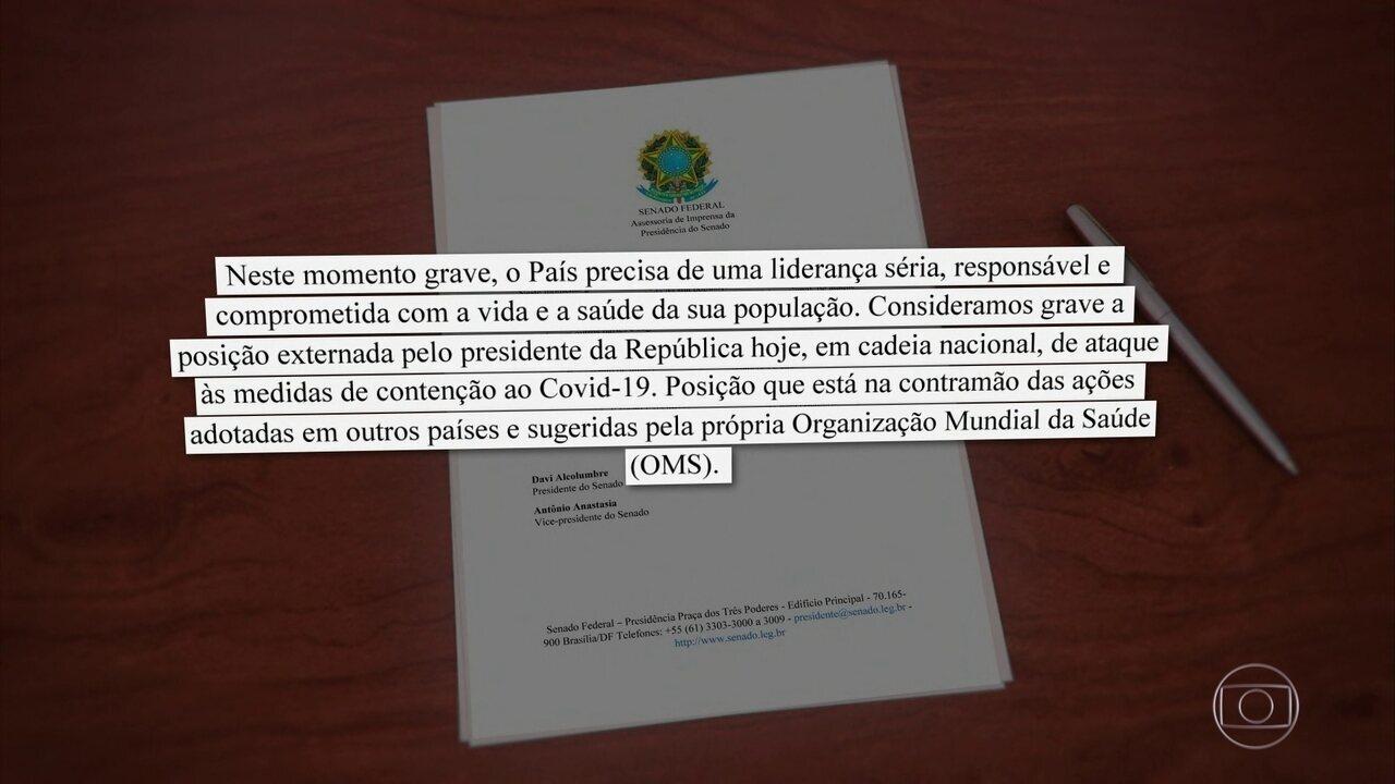 Sociedade civil e autoridades criticam pronunciamento de Bolsonaro