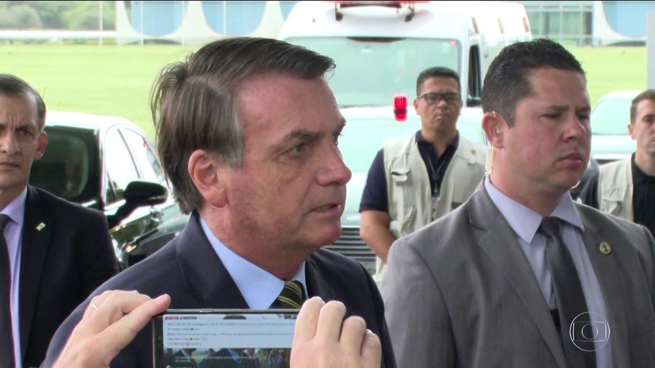 O presidente Jair Bolsonaro voltou a criticar isolamento social