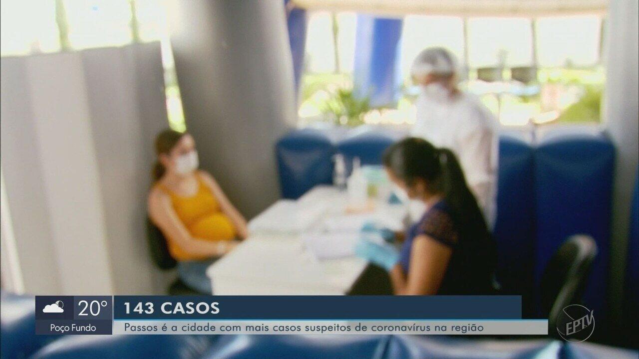 Passos (MG) segue com o maior número de suspeitas do novo coronavírus no Sul de Minas