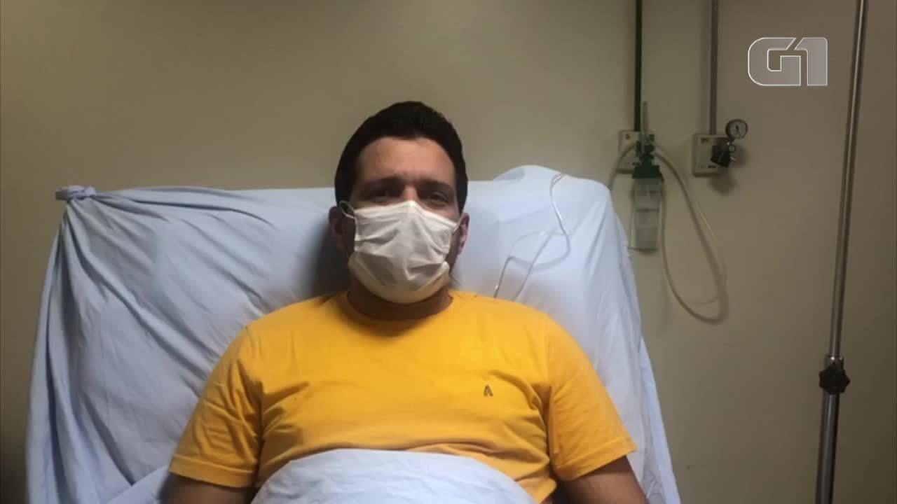 Apresentador Marcelo Magno sai do CTI e manda recado ao Jornal Nacional