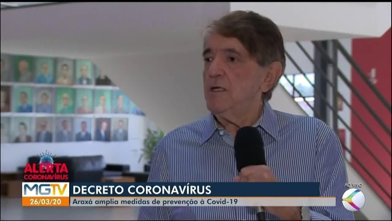 Prefeito de Araxá explica mudanças na cidade em prevenção ao coronavírus