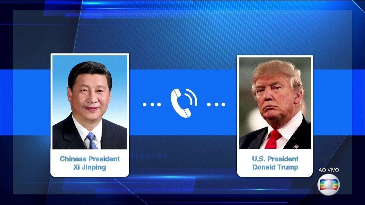Preocupado com a pandemia, presidente da China Xi Jinping liga para Donald Trump