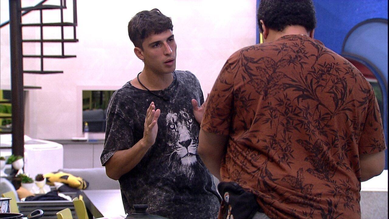 Felipe se justifica para Babu: 'Tudo o que eu fiz foi para tentar te tirar do Paredão'