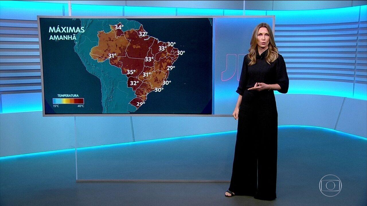 Veja a previsão do tempo para terça-feira (31) no Brasil