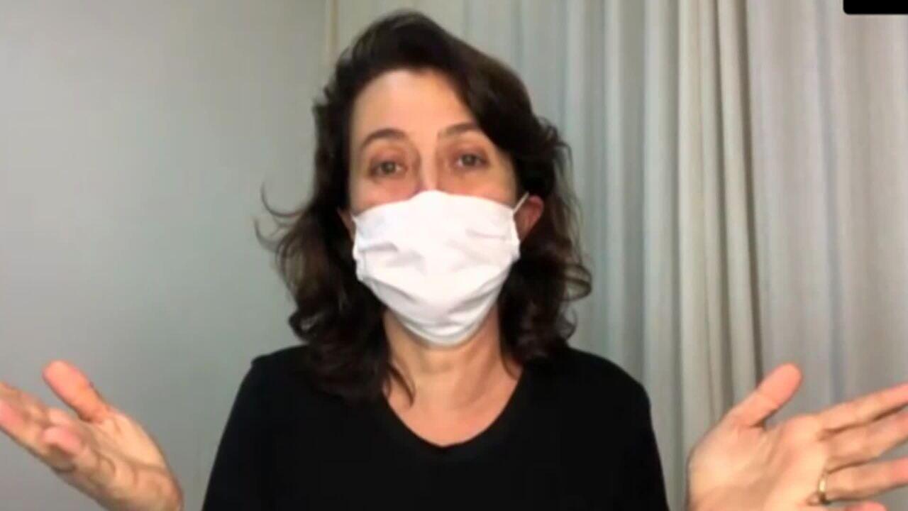 Pesquisadora ensina como usar a máscara para proteção do coronavírus