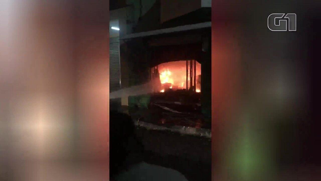 Incêndio no Centro histórico de Parnaíba