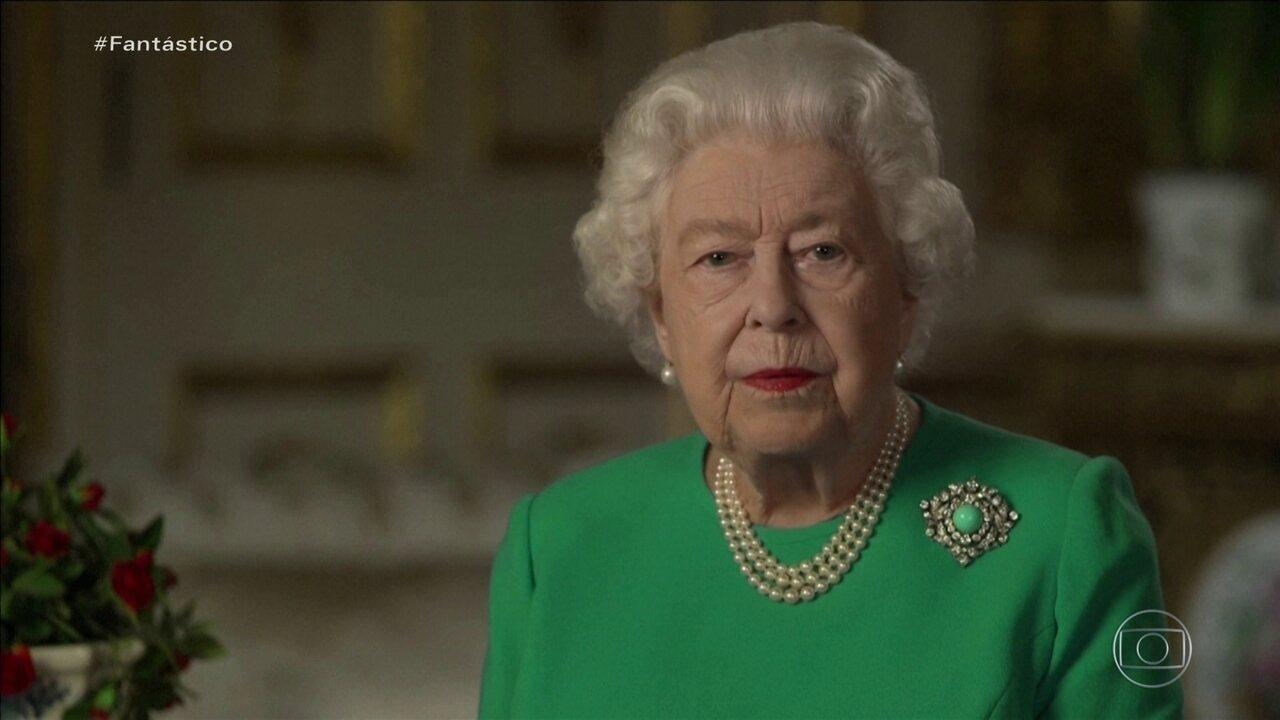 Rainha Elizabeth II faz pronunciamento para tranquilizar população sobre o coronavírus