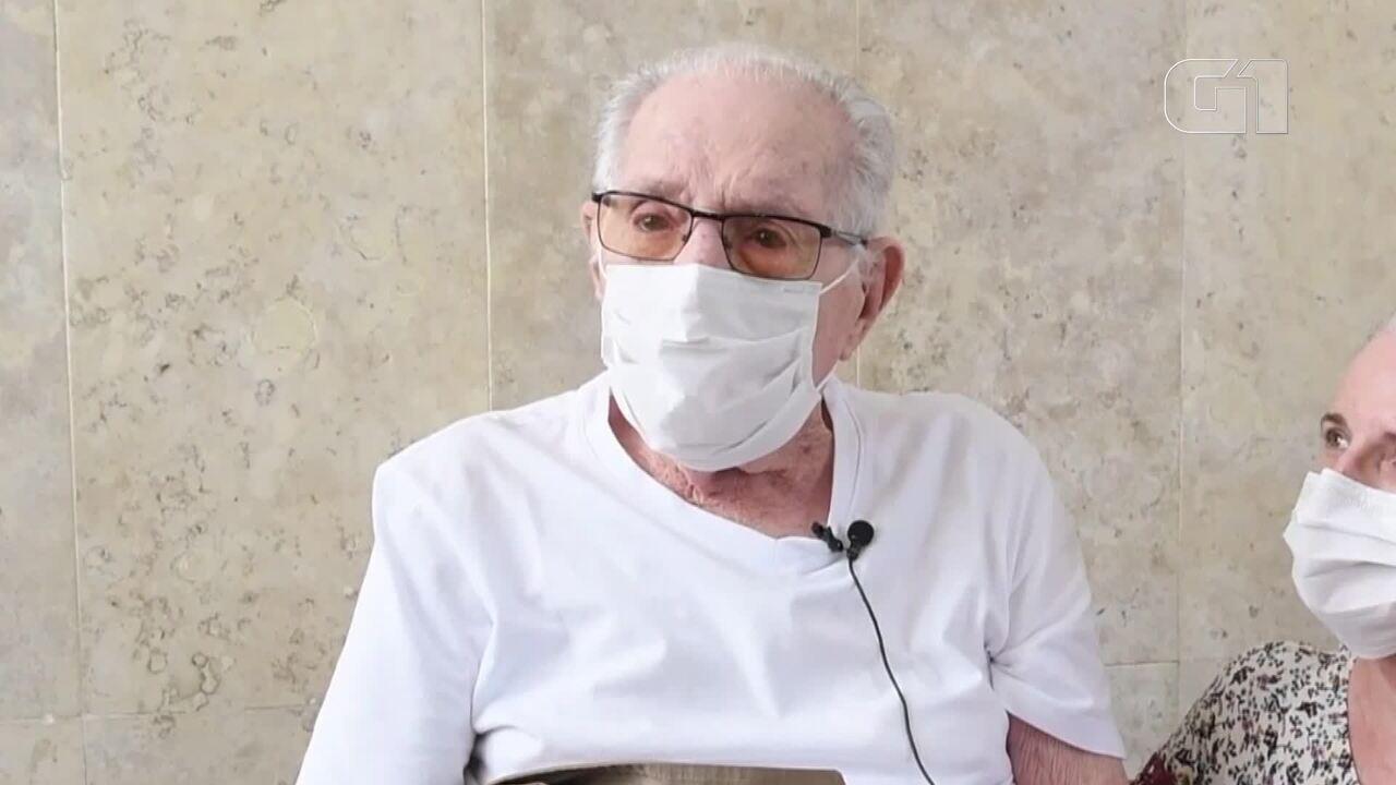 Com 99 anos, veterano da 2ª Guerra fala como foi se recuperar da Covid-19 no DF