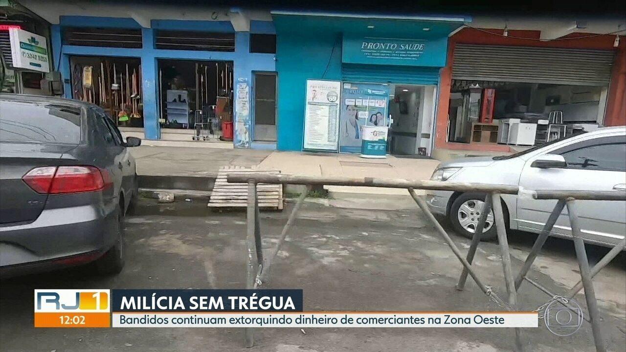 Comerciantes denunciam extorsão e milicianos obrigam lojas a abrirem