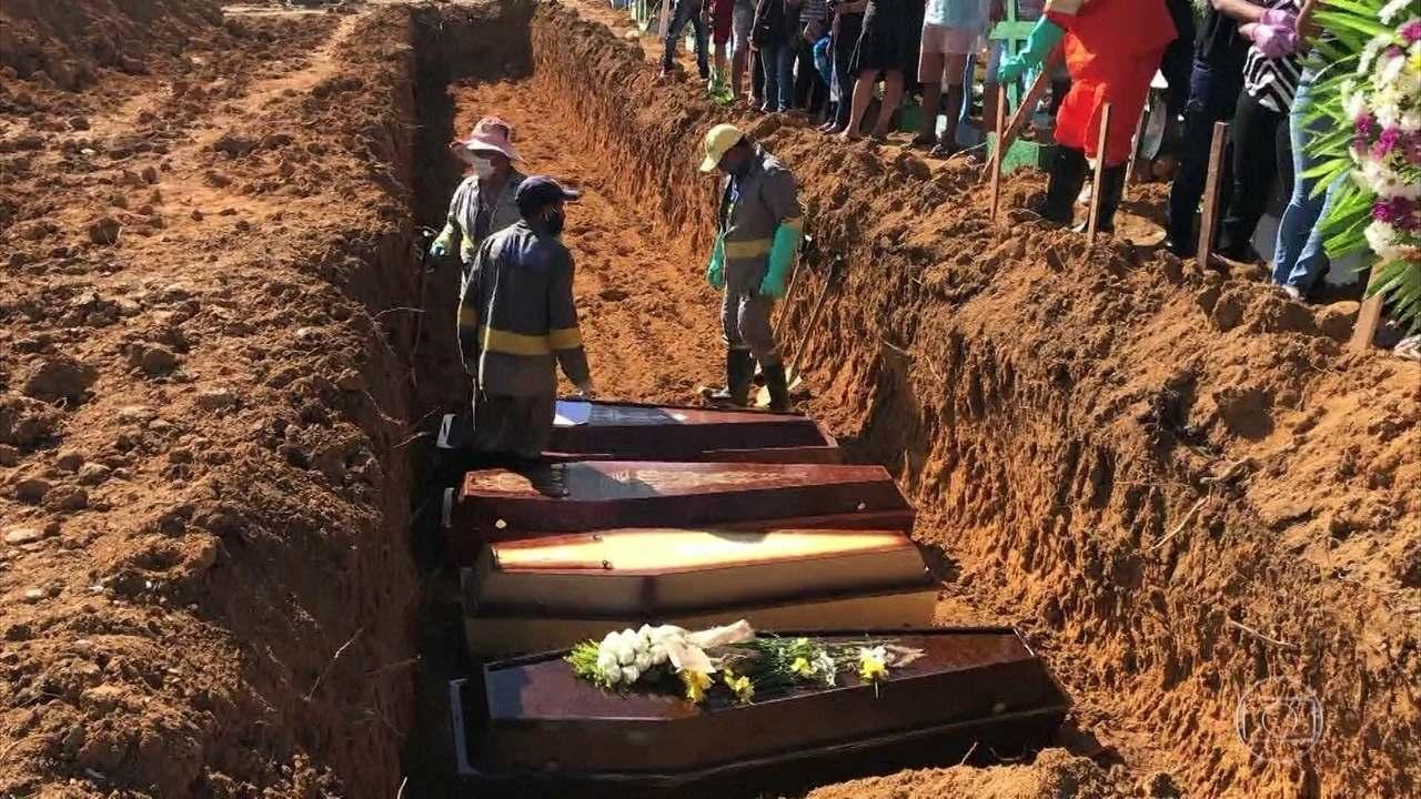 Número de mortes por Covid-19 triplica a média diária de enterros em Manaus