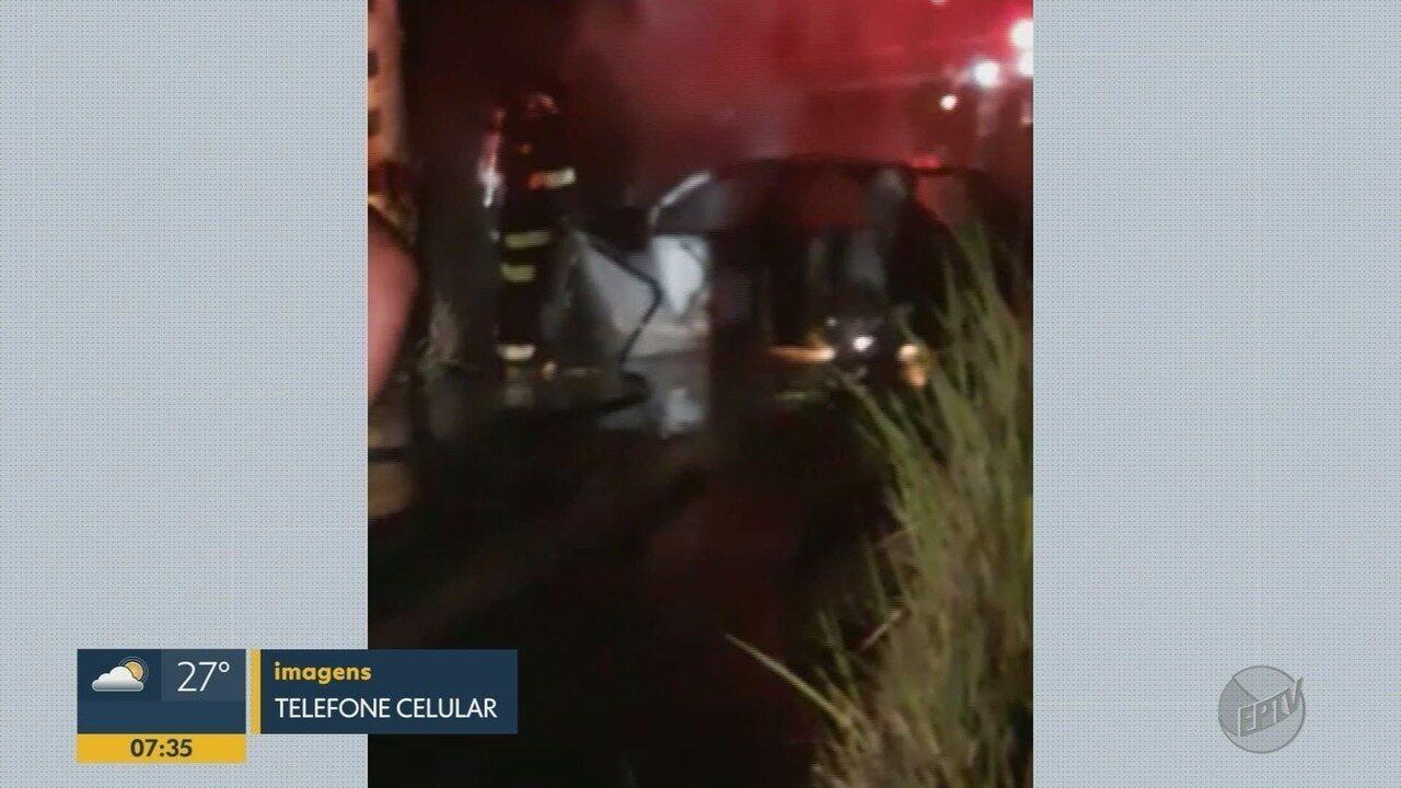 Motorista morre carbonizado em Taquaritinga, SP