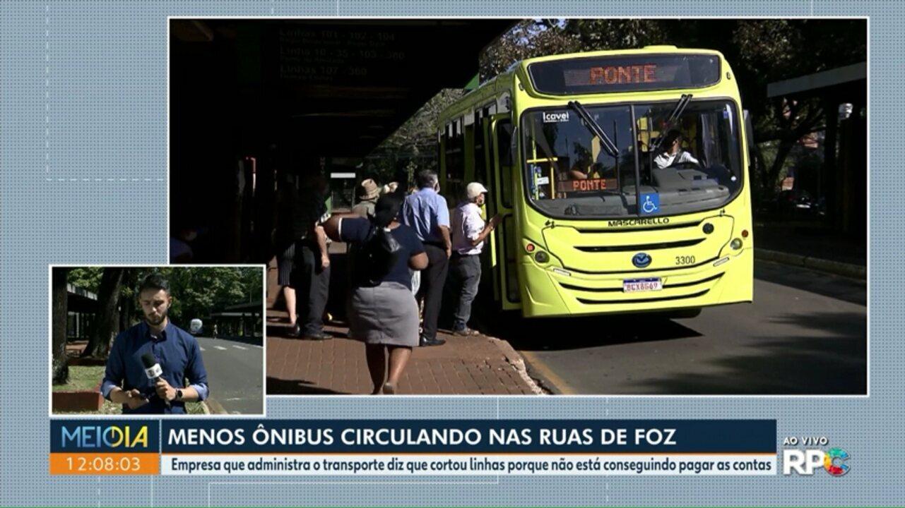 Empresa que administra o transporte coletivo corta linhas de ônibus em Foz do Iguaçu