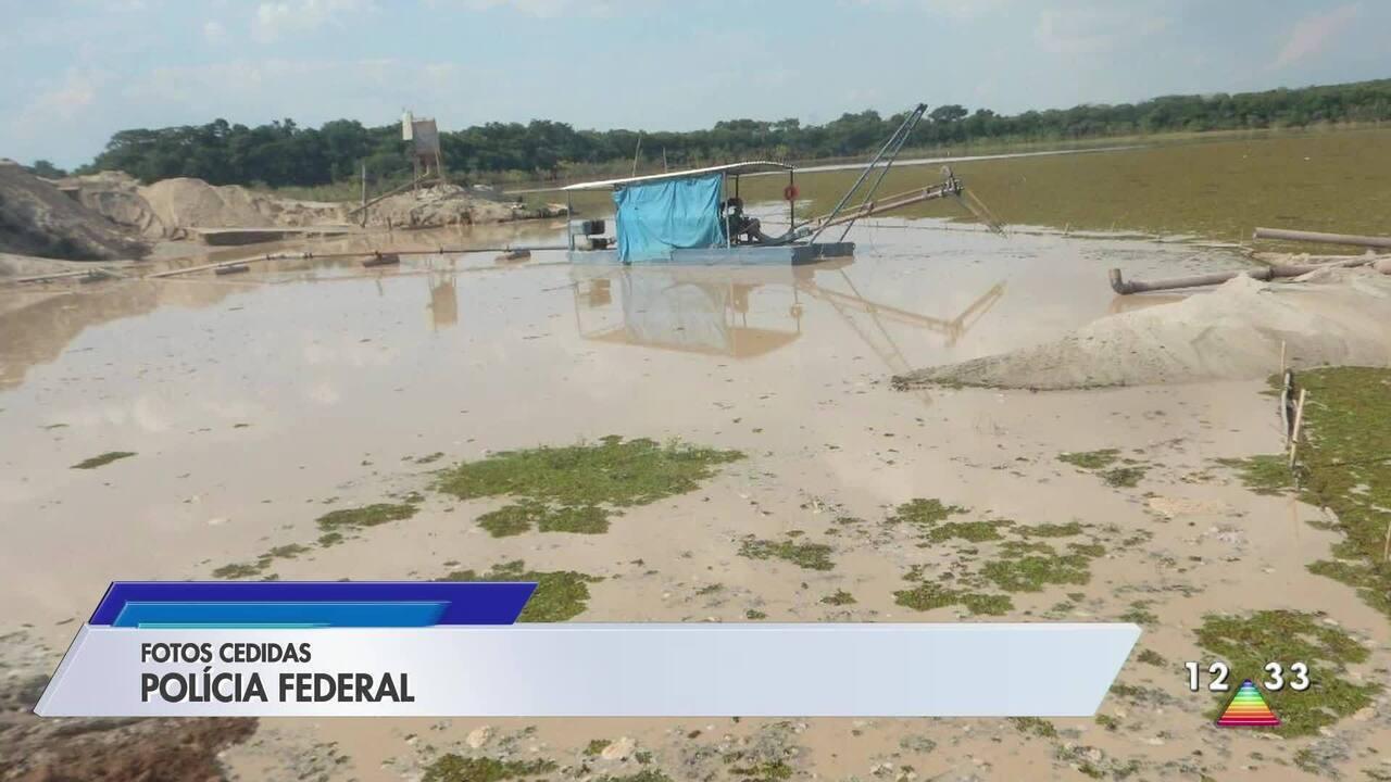 Polícia Federal investiga crime ambiental por extração ilegal de areia em Caçapava