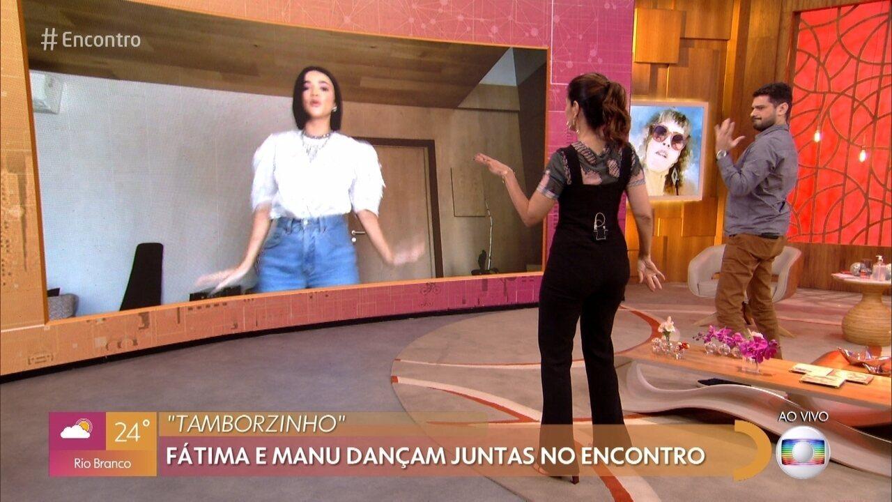 Manu Gavassi ensina sua coreografia para Fátima Bernardes