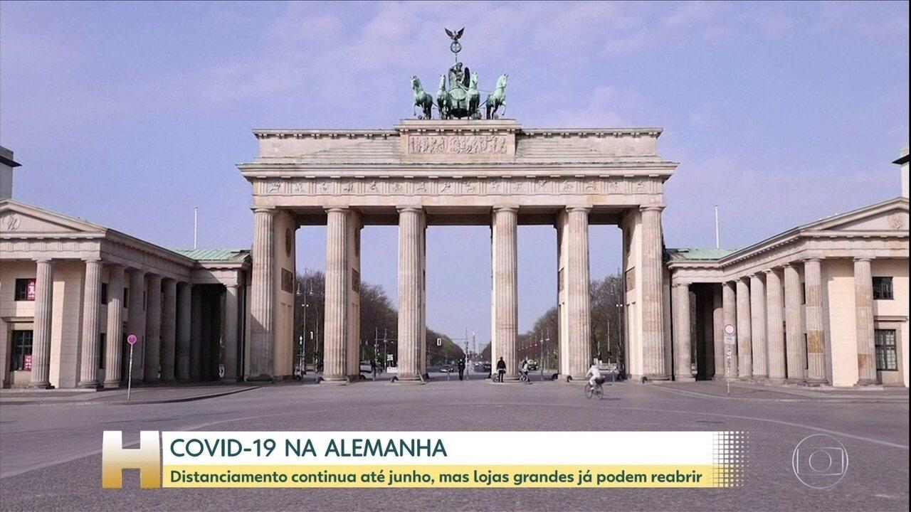 Alemanha anuncia reabertura de lojas e volta dos jogos de futebol