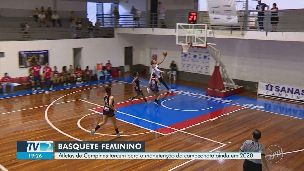 Atletas do basquete feminino de Campinas torcem por manutenção do campeonato
