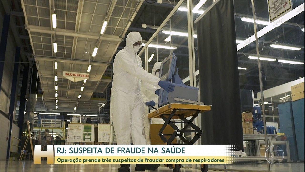 Ex-subsecretário de Saúde do RJ é preso por suspeita de fraude na compra de respiradores