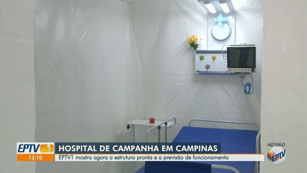 Hospital de Campanha em Campinas tem estrutura pronta nesta segunda-feira