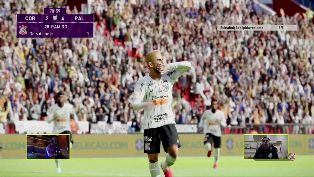 Gol do Corinthians! Pedrinho dá belo passe em velocidade para Ramiro, que finaliza, aos 33 do 2ºT