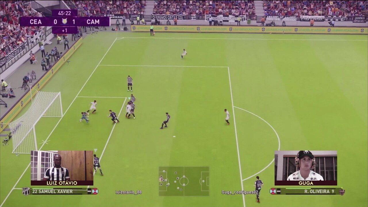 Melhores momentos: Atlético-MG (Guga) 4 x 0 (Luiz Otávio) Ceará pela final da segunda semana do Futebol de Casa