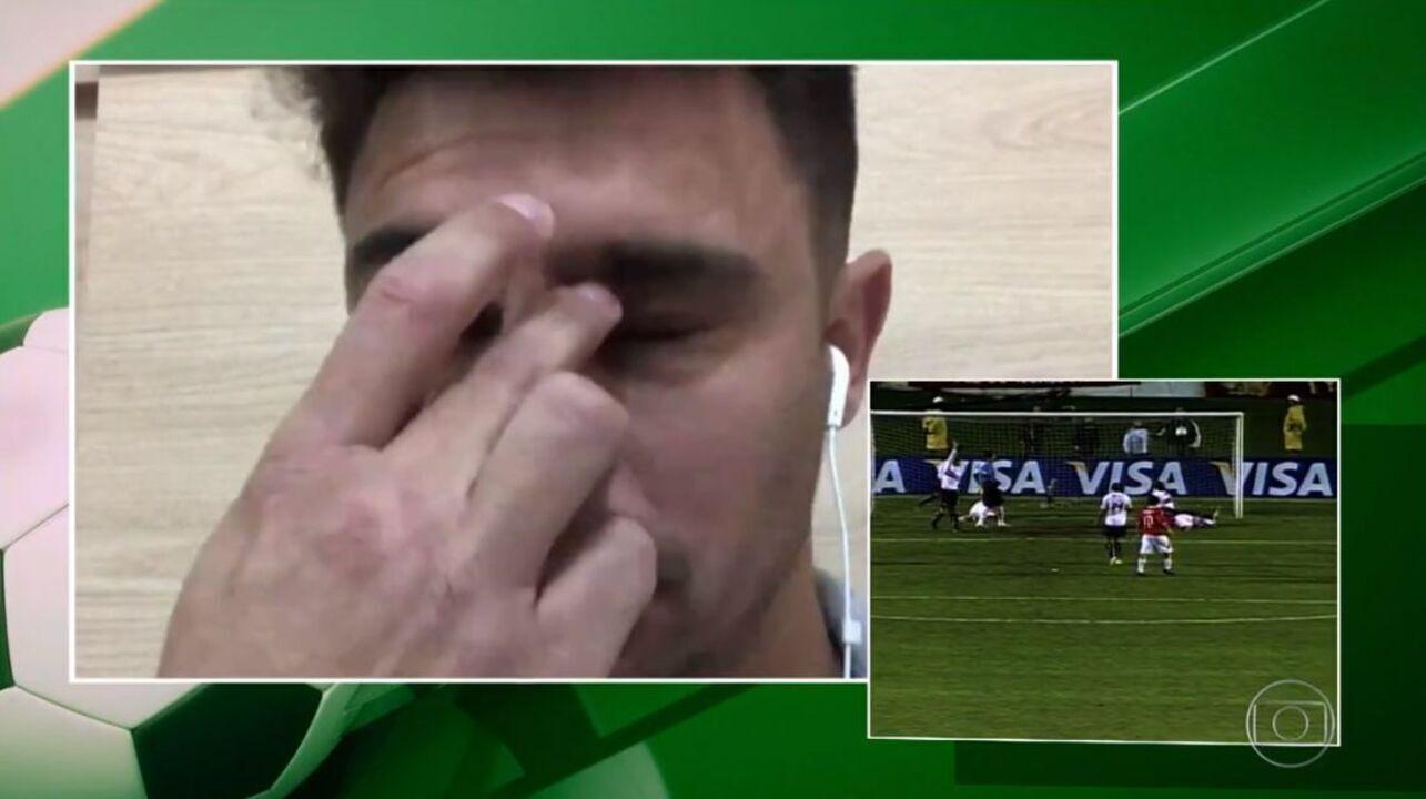 Alex se emociona ao rever gol do Fernando na final da Libertadores de 2006
