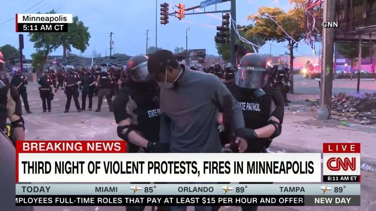 Jornalista da CNN é preso durante cobertura de protesto em Minneapolis