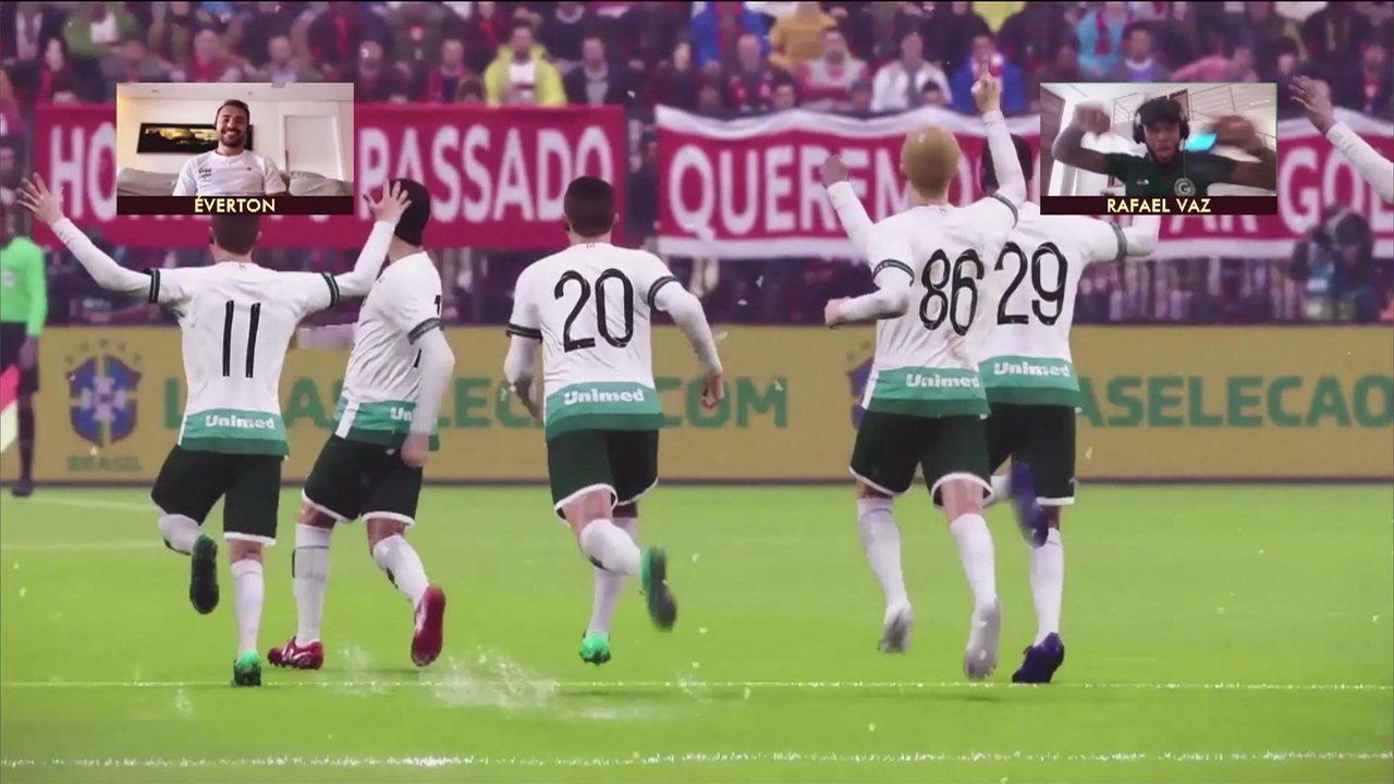 Melhores momentos: Goiás/Rafael Vaz 2 (5) x (4) 2 Éverton Ribeiro/Flamengo pela final da terceira semana do Futebol de Casa