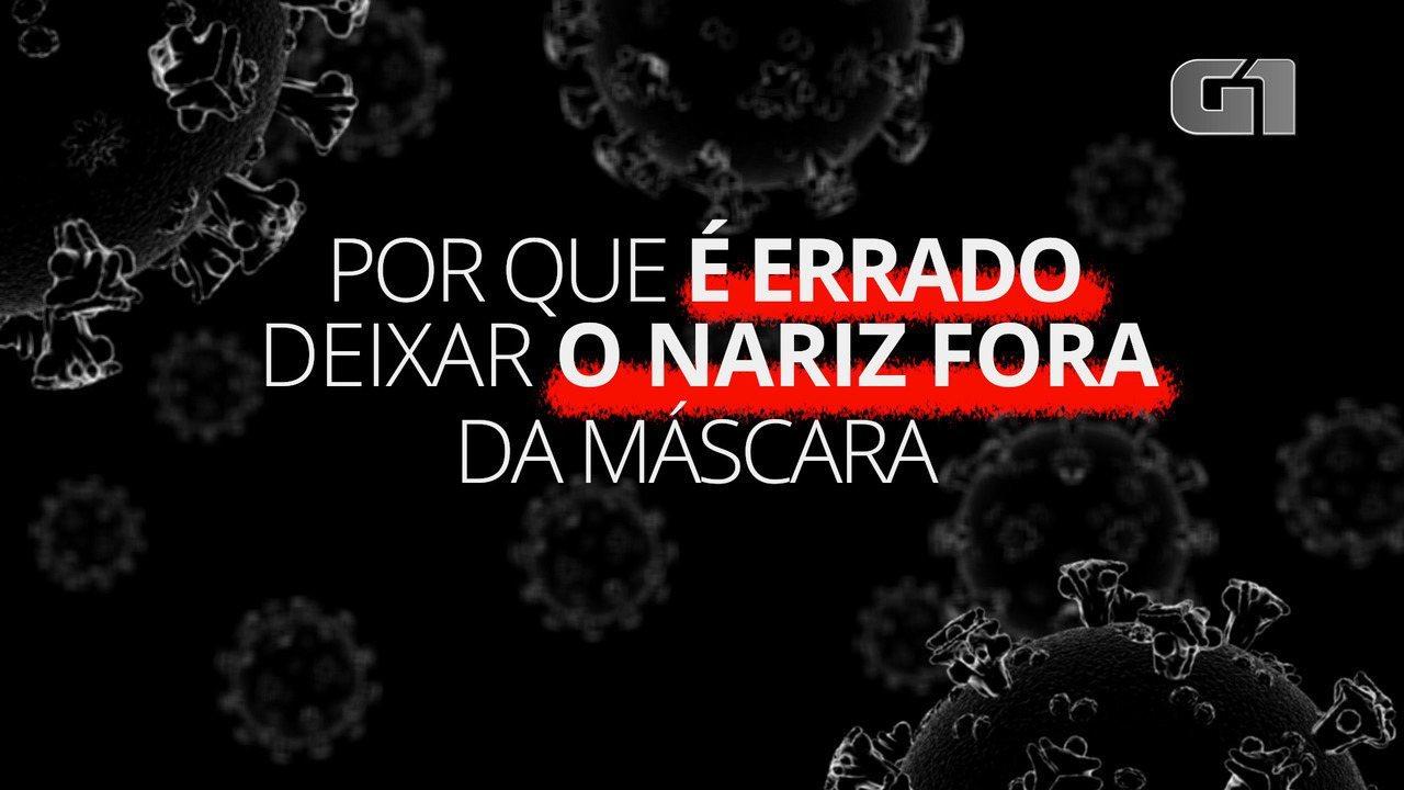 Coronavírus: Por que é errado deixar o nariz fora da máscara