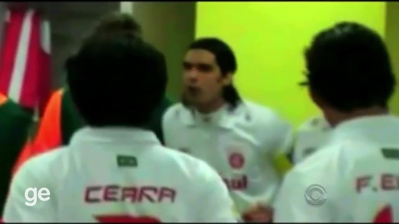 Relembre o discurso do Fernandão antes de enfrentar o Barcelona no Mundial, em 2006