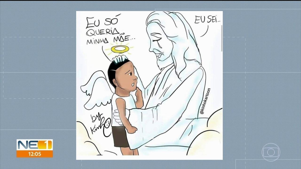 Homenagem a menino de 5 anos morto no Recife viraliza nas redes sociais