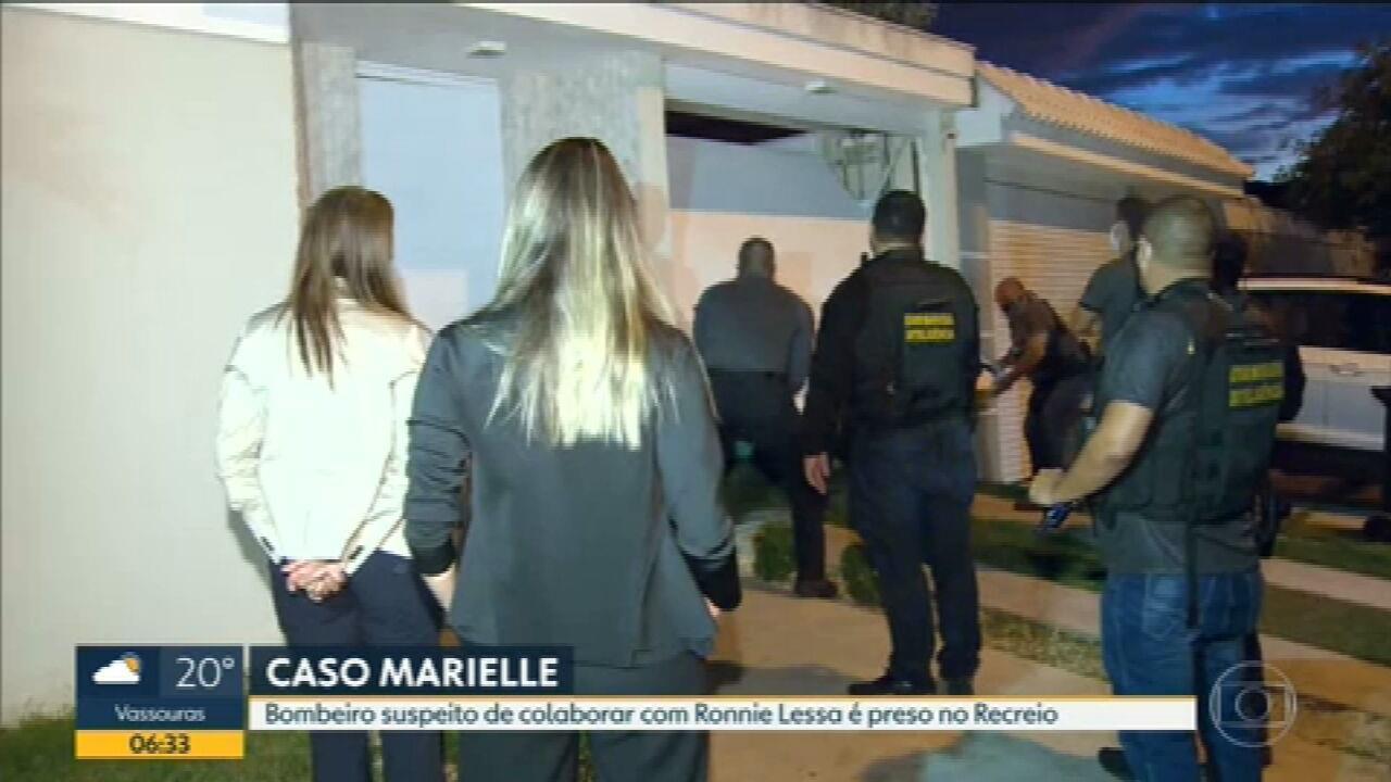 Bombeiro suspeito de colaborar com Ronie Lessa é preso no Rio