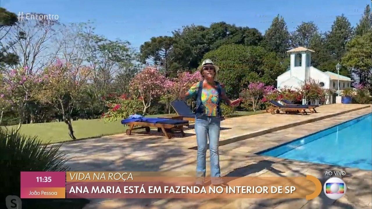 Ana Maria mostra sua fazenda no interior de São Paulo