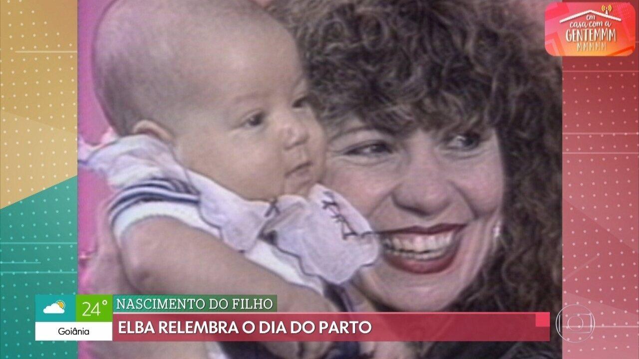 Elba Ramalho relembra parto de seu primeiro filho