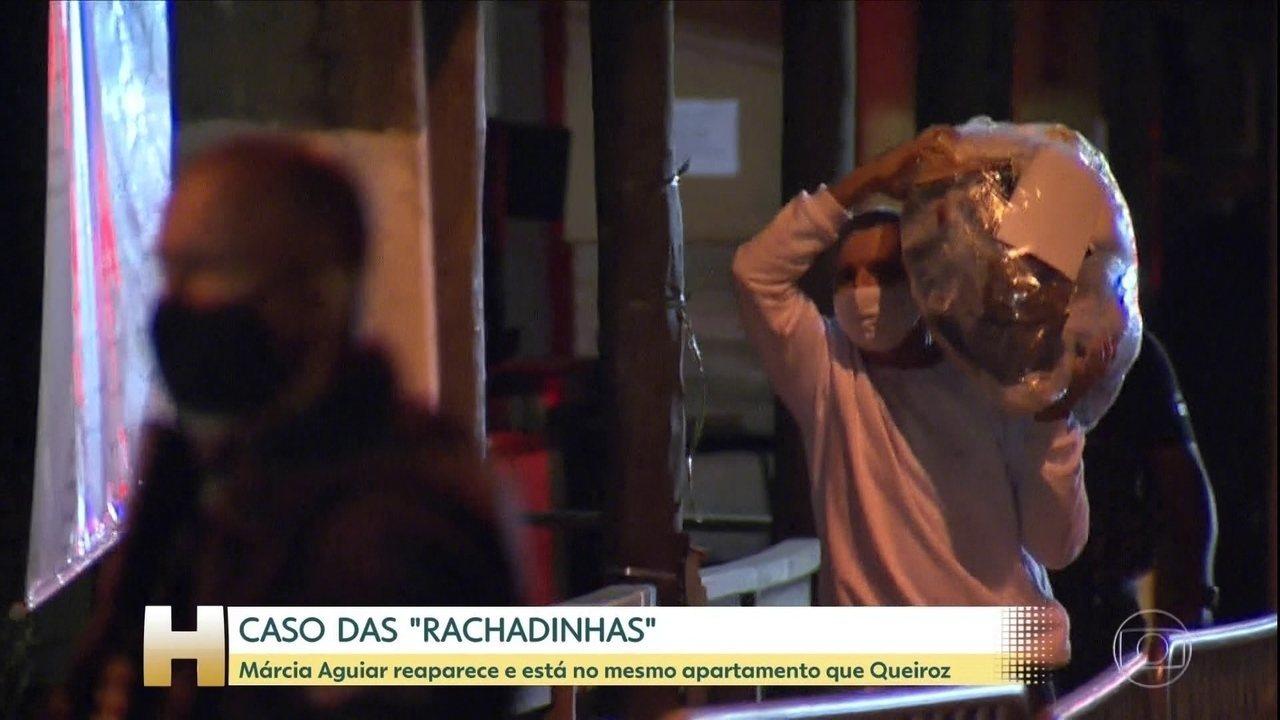 Mulher de Queiroz reaparece para cumprir prisão domiciliar