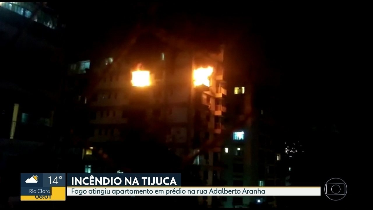 Incêndio na Tijuca, na rua Adalberto Aranha