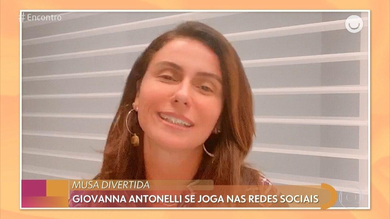 Giovanna Antonelli se joga nas redes sociais durante a quarentena