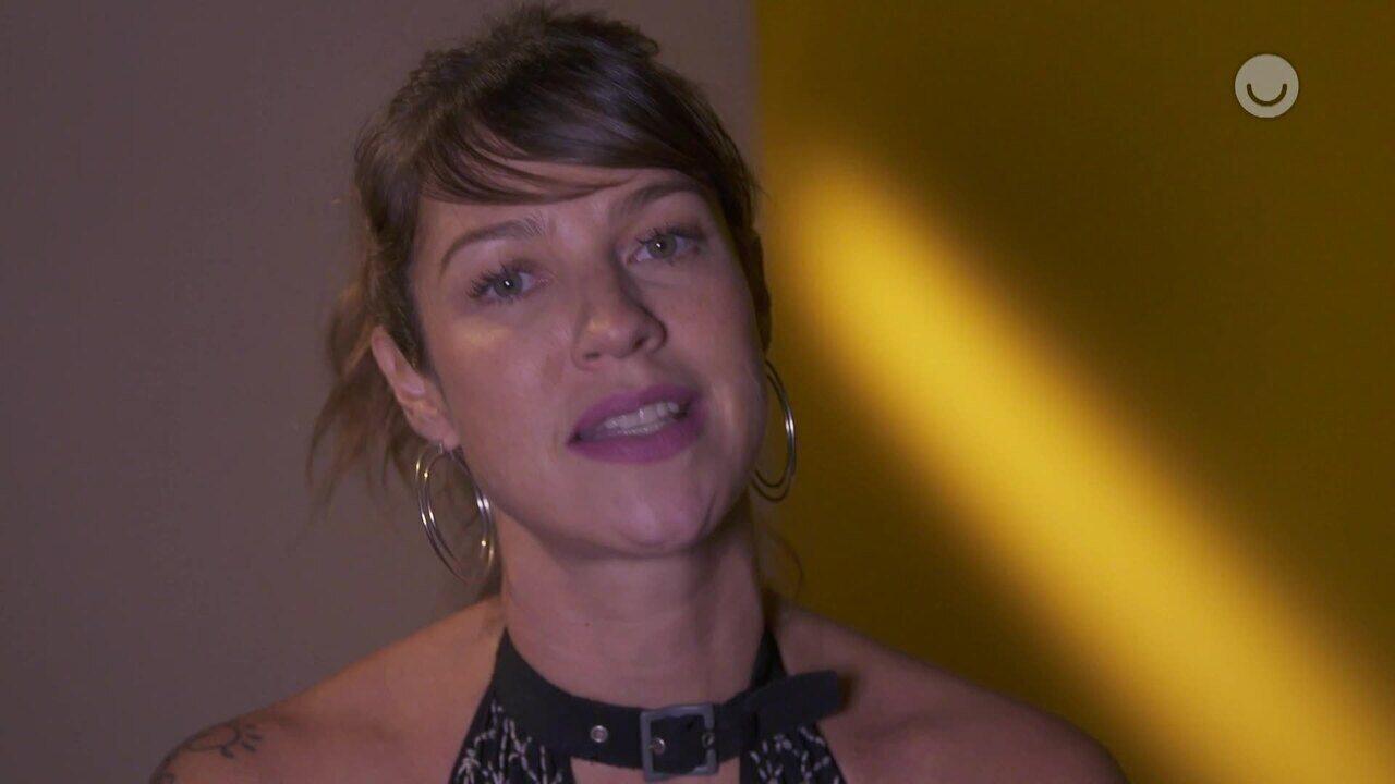 Luana Piovani lembra momentos marcantes que passou no palco do 'Domingão'