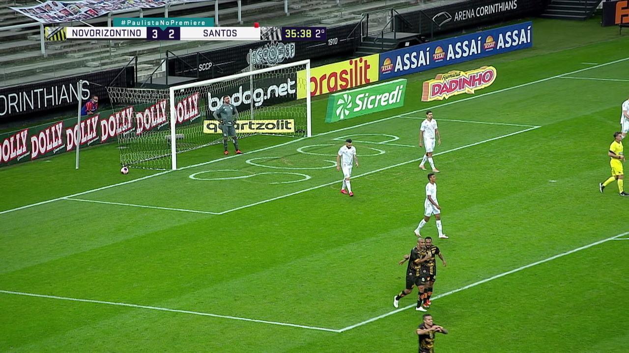 Melhores momentos: Novorizontino 3 x 2 Santos, pela 12ª rodada do Campeonato Paulista